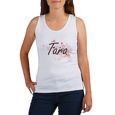Tara Artistic Name Design with Hearts Tank Top