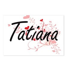 Tatiana Artistic Name Des Postcards (Package of 8)