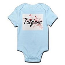 Tatyana Artistic Name Design with Hearts Body Suit