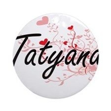 Tatyana Artistic Name Design with Ornament (Round)