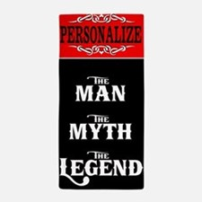 Custom Man Myth Legend Beach Towel