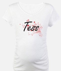 Tess Artistic Name Design with H Shirt