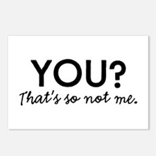 You? That's so not me. Postcards (Package of 8)