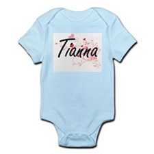 Tianna Artistic Name Design with Hearts Body Suit