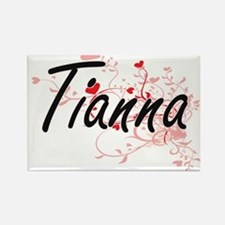 Tianna Artistic Name Design with Hearts Magnets