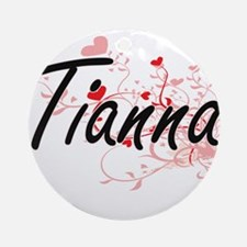 Tianna Artistic Name Design with Ornament (Round)