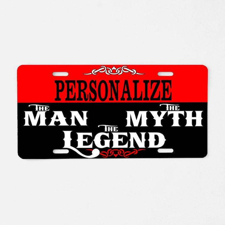 Custom Man Myth Legend Aluminum License Plate