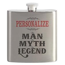 Custom Man Myth Legend Flask