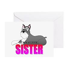 Schnauzer Sister Greeting Card