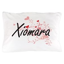 Xiomara Artistic Name Design with Hear Pillow Case
