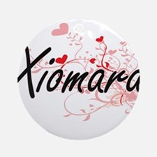 Xiomara Artistic Name Design with Ornament (Round)