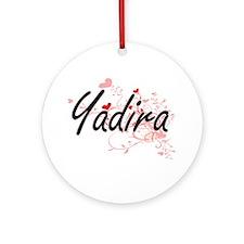 Yadira Artistic Name Design with Ornament (Round)