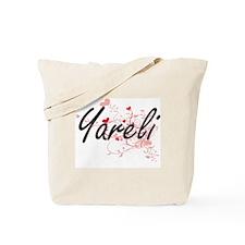 Yareli Artistic Name Design with Hearts Tote Bag