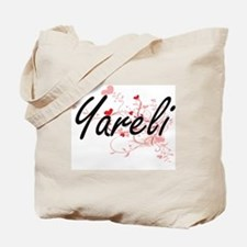Yareli Artistic Name Design with Hearts Tote Bag