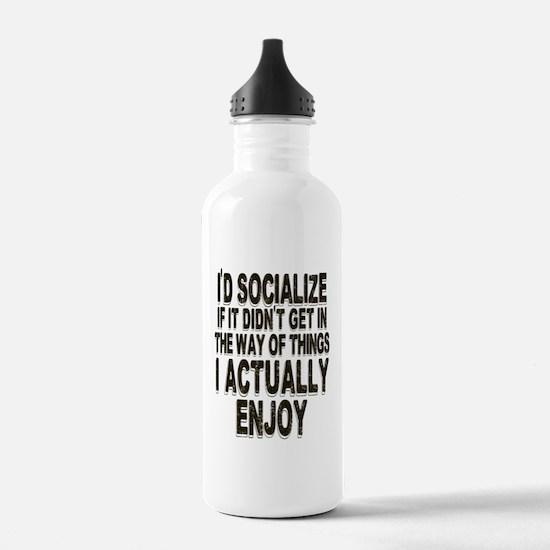 Antisocial Humor Water Bottle