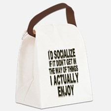 Antisocial Humor Canvas Lunch Bag