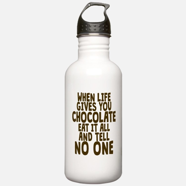 Life Gives You Chocola Sports Water Bottle