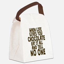 Life Gives You Chocolate Canvas Lunch Bag