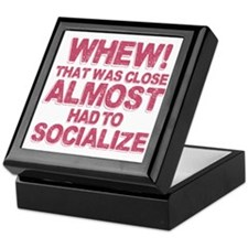 Introvert Social Anxiety Humor Keepsake Box