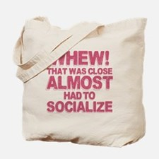 Introvert Social Anxiety Humor Tote Bag