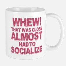 Introvert Social Anxiety Humor Mug