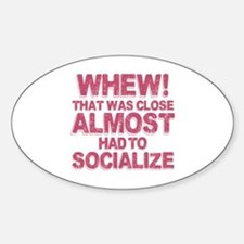 Introvert Social Anxiety Humor Decal