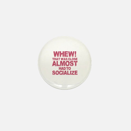 Introvert Social Anxiety Humor Mini Button