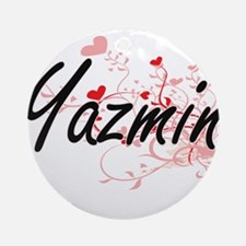 Yazmin Artistic Name Design with Ornament (Round)