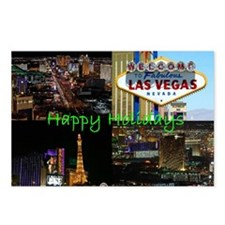 Las Vegas Happy Holidays Scenic Postcards 8