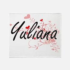 Yuliana Artistic Name Design with He Throw Blanket