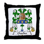 Charlier Family Crest Throw Pillow