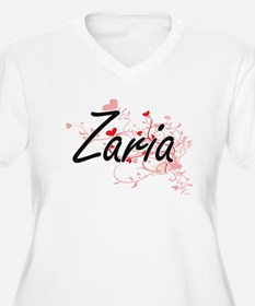 Zaria Artistic Name Design with Plus Size T-Shirt