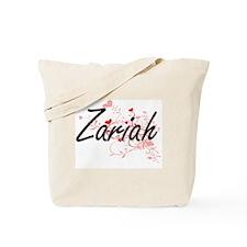 Zariah Artistic Name Design with Hearts Tote Bag
