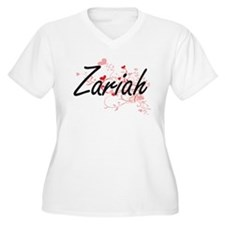 Zariah Artistic Name Design with Plus Size T-Shirt