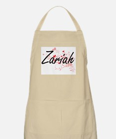 Zariah Artistic Name Design with Hearts Apron