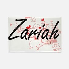 Zariah Artistic Name Design with Hearts Magnets