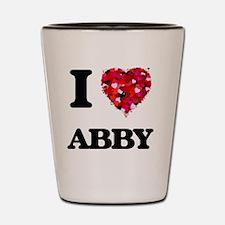 I Love Abby Shot Glass