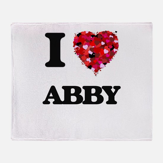 I Love Abby Throw Blanket