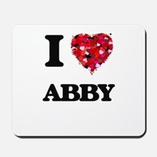 I Love Abby Mousepad