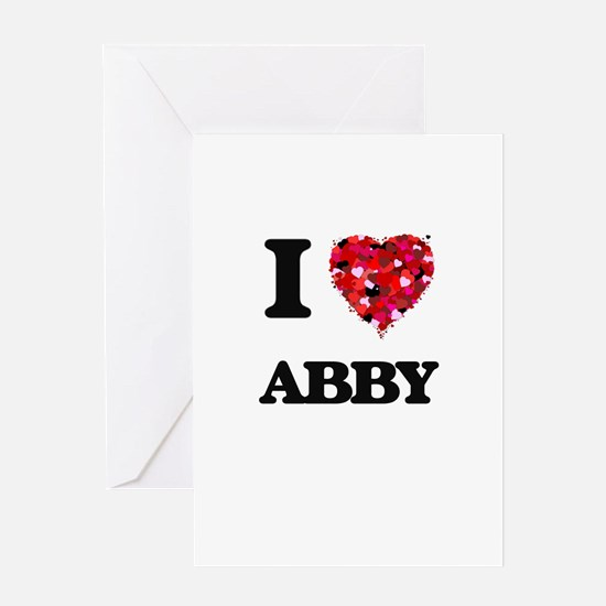 I Love Abby Greeting Cards