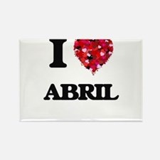 I Love Abril Magnets