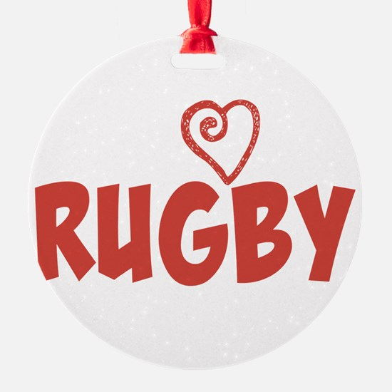 Love Rugby Ornament