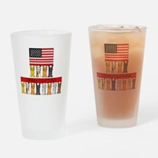USA citizenship congratulations. Drinking Glass