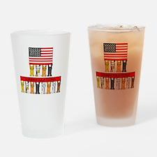 USA citizenship congratulations. Drinking Glass