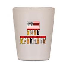 USA citizenship congratulations. Shot Glass