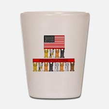 USA citizenship congratulations. Shot Glass