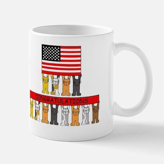 USA citizenship congratulations. Mug