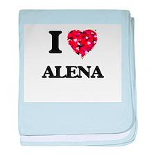 I Love Alena baby blanket