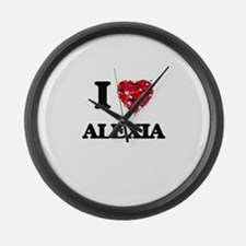 I Love Alexia Large Wall Clock