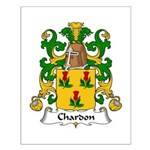 Chardon Family Crest Small Poster